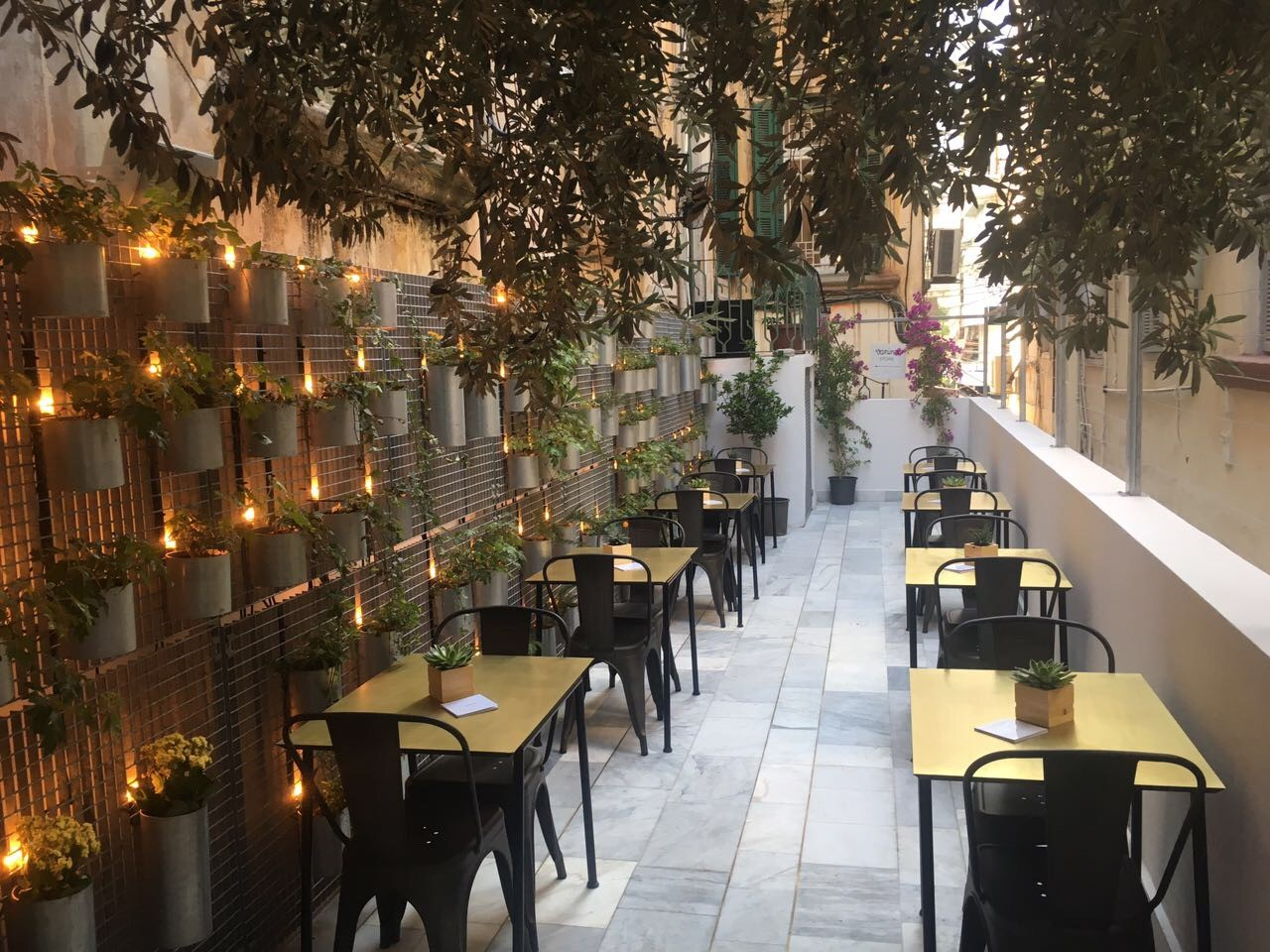 A Honey Workshop Garden Cafe In Mar Mikhael By L Atelier Du Miel